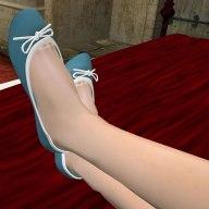 OD Light Blue Mesh Ballet Flats